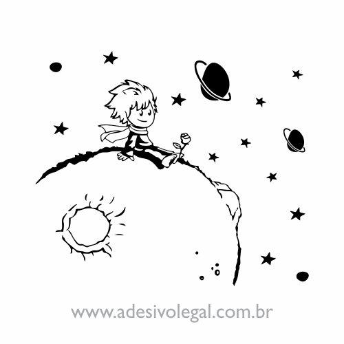 Adesivo - O Pequeno Príncipe - Sentado no Planeta