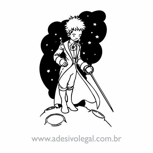 Adesivo - O Pequeno Príncipe com Espada