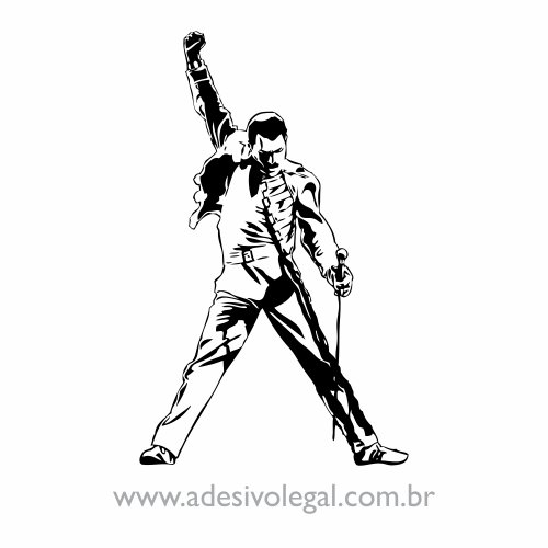 Adesivo - Freddie Mercury - Queen