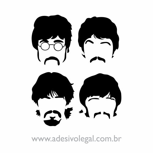Adesivo - The Beatles - Quarteto