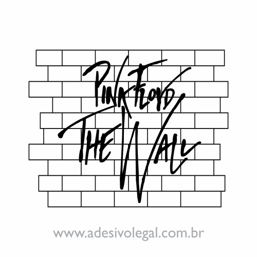 Adesivo - Pink Floyd - The Wall