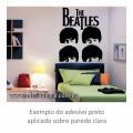 Adesivo - The Beatles - Logo com Quarteto