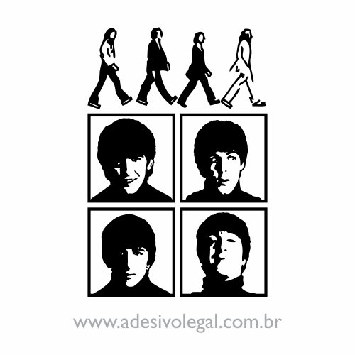 Adesivo - The Beatles - Abbey Road e Quarteto