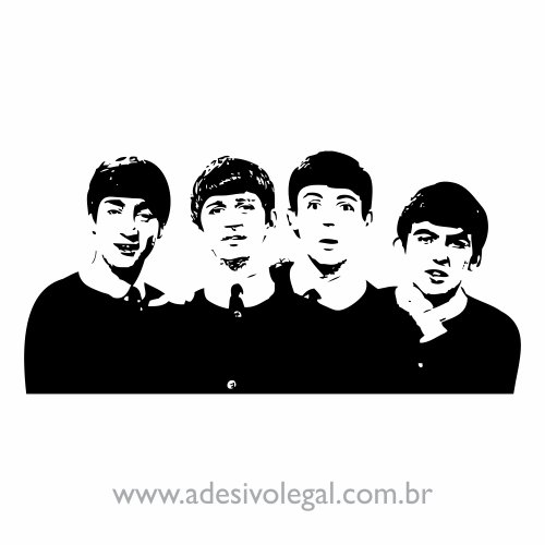 Adesivo - The Beatles - John - George - Paul - Ringo