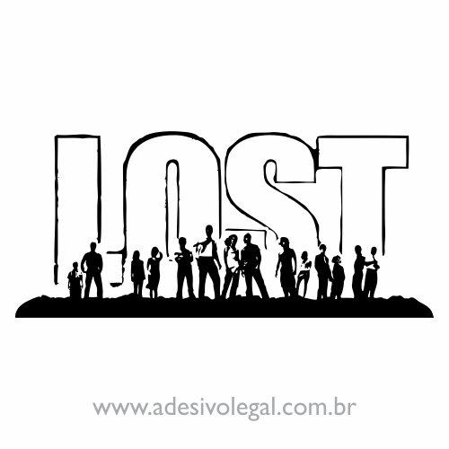 Adesivo - Seriado - Lost