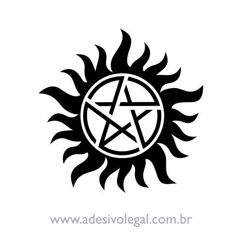 Adesivo - Seriado - Supernatural - Símbolo Proteção