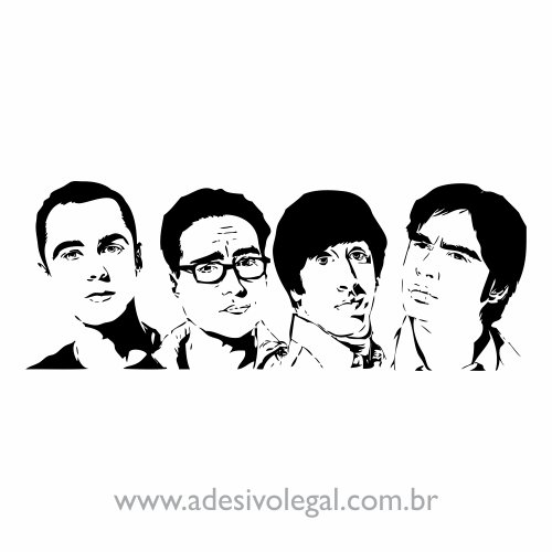 Adesivo - Seriado - The Big Bang Theory