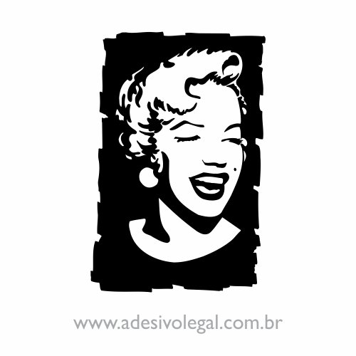 Adesivo - Famoso - Marilyn Monroe Sorrindo