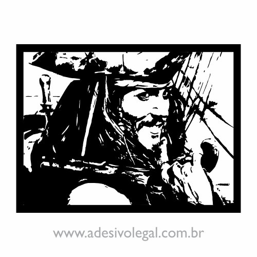 Adesivo - Filme - Piratas do Caribe - Jack Sparrow