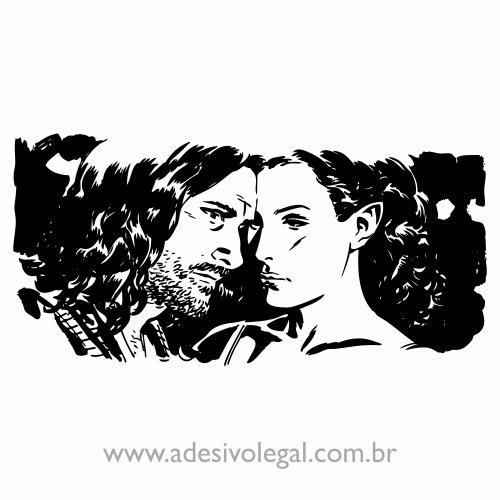 Adesivo - Filme - O Senhor dos Anéis - Aragorn e Arwen