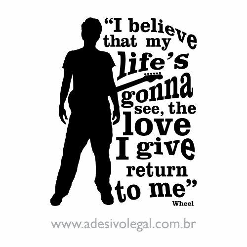 Adesivo - Famoso - John Mayer - Whell