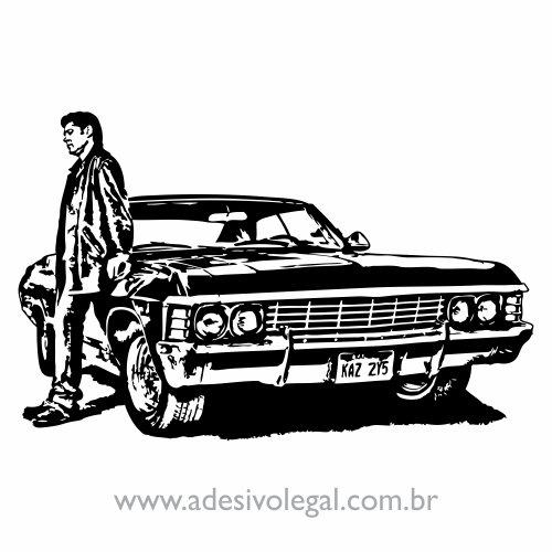 Adesivo - Seriado - Supernatural - Dean e Impala