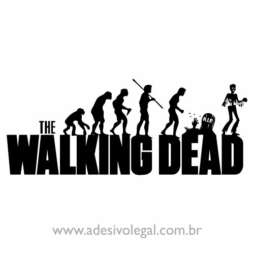 Adesivo - Seriado - The Walking Dead - Evolution