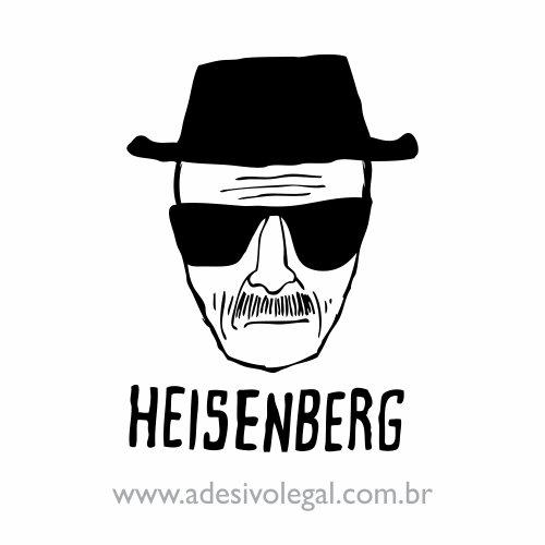 Adesivo - Seriado - Breaking Bad - Heisenberg