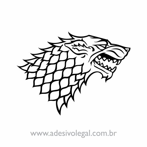 Adesivo - Seriado - Game of Thrones - House Stark