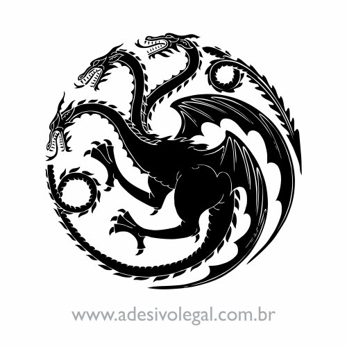 Adesivo - Seriado - Game of Thrones - House Targaryen