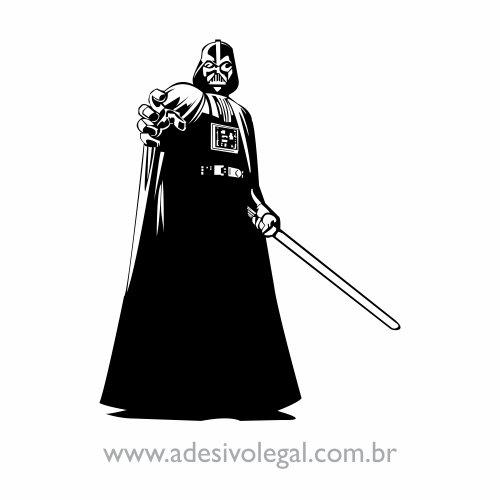 Adesivo - Star Wars - Darth Vader em Pé com Sabre