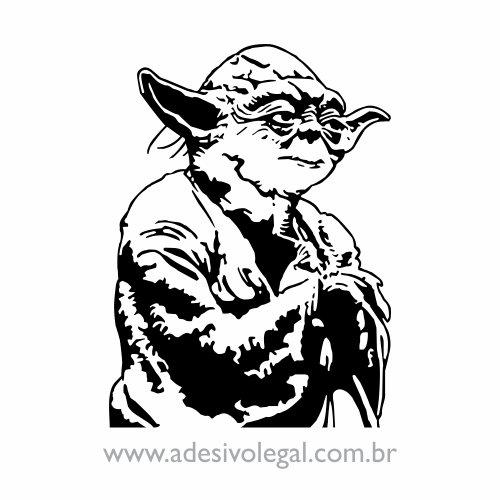 Adesivo - Star Wars - Mestre Yoda