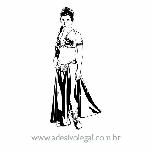 Adesivo - Star Wars - Princesa Leia