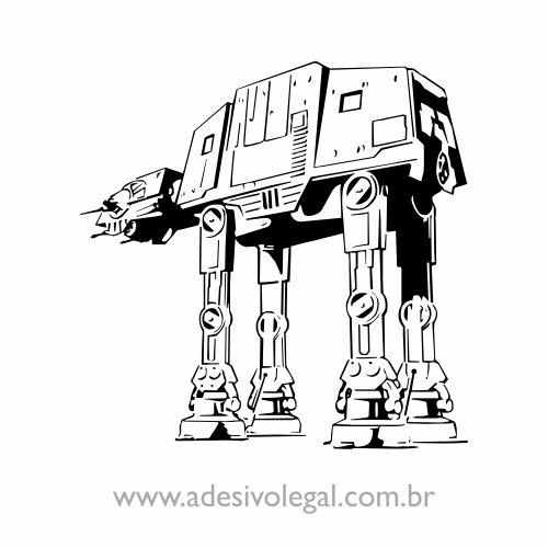 Adesivo - Star Wars - Walker AT-AT