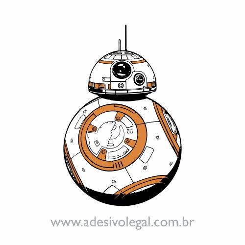 Adesivo - Star Wars - BB-8 - Colorido